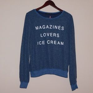 Wildfox Size S Scoop Neck Pull Over Sweater.
